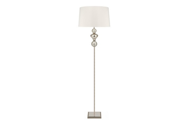 Yumi floor lamp silver white keeki for Yumi led floor lamp